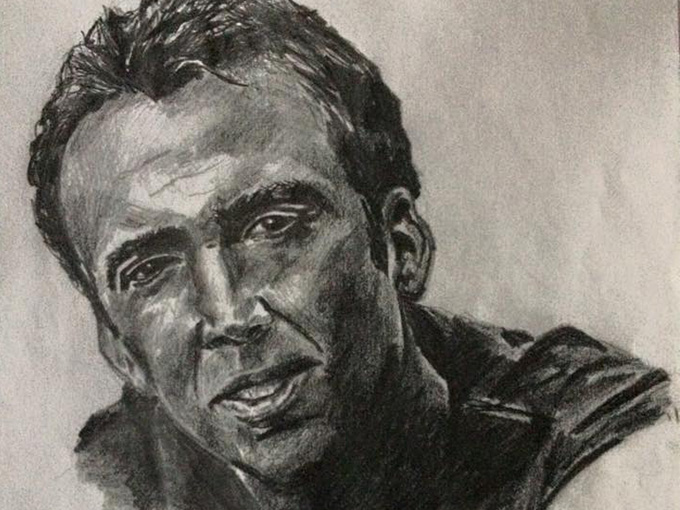 Drawing of Nicholas Cage
