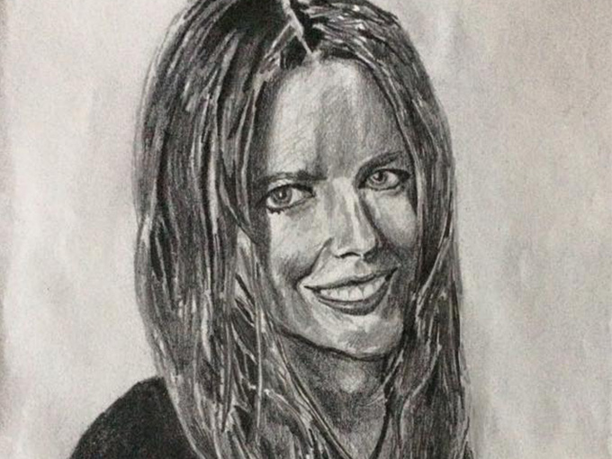 Drawing of Nicole Kidman