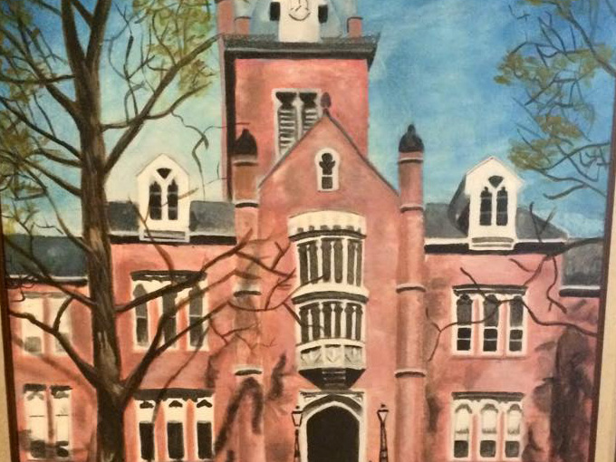 Painting of large old building