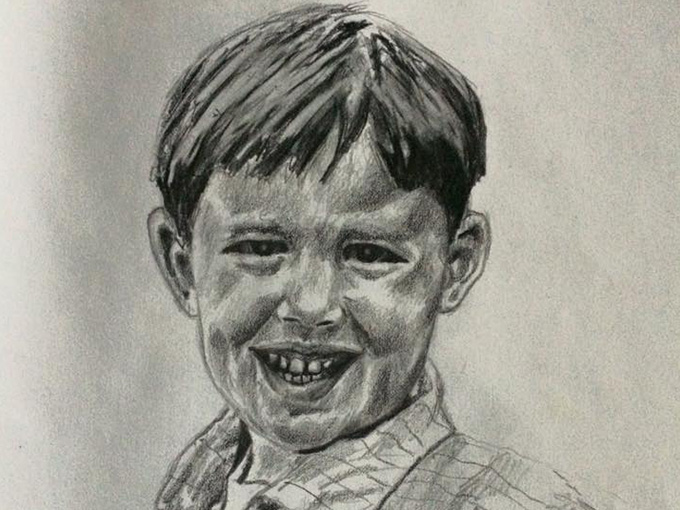 Drawing of young boy