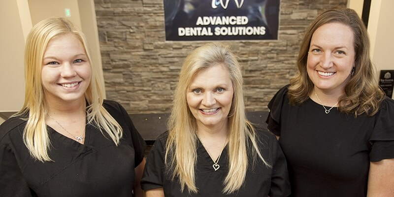 Front office staff of Advanced Dental Solutions